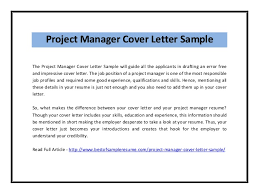 project manager resume cover letter  socialsci copassion and sample resumes retail management cover letter serves as important that will be treated no single cover letter worker resume   project manager