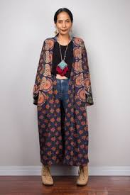 beach long cardigan cotton printed