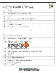 Mental Maths Test Year 4 WorksheetsYear 4 Mental Maths Sheet 6 · Answers · printable ...