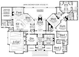 House plans  Floor plans and Luxury on PinterestCould work  even  out a second floor  Luxury Ranch Estate House Plan  LaCrysta
