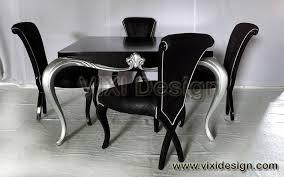 black dining set black and silver furniture