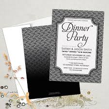 stylish black white dinner party invitations ⋆ partyinvitecards 2a blackwhite dinnerparty 5x7 mockup 2 900