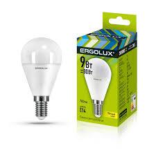 Светодиодная <b>лампочка Ergolux</b> LED <b>9W</b> 3000К <b>E14</b>