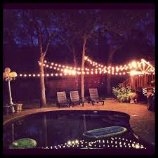 party backyard party lighting