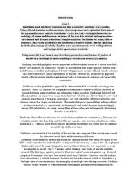 aqa a suicide essay   document in a level and ib sociology preview of aqa a suicide essay