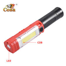 <b>Coba led worklight</b> cob magnetic flashlight rechargeable use 18650 ...