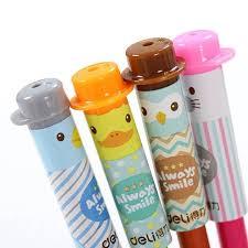 Online Shop <b>4pcs</b>/<b>lot</b> Pencil Cap <b>Cute Kawaii</b> Silicone Pencil Grip ...