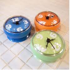 small bathroom clock: aliexpresscom buy creative bathroom waterproof wall clock waterproof sucker wall clock round mini sucker small wall clock from reliable clock weather