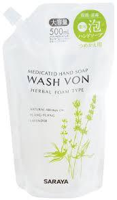 """Жидкое <b>пенящееся мыло для</b> рук Saraya """"Wash Von"""", 500 мл"""