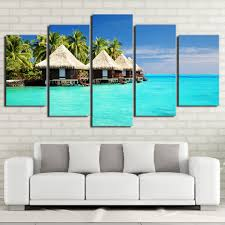 HD Printed Modular Pictures <b>5 Piece Canvas Art</b> Maldives Islands ...