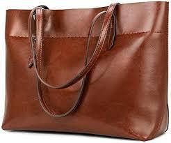 Kattee Vintage Genuine Leather Tote Shoulder Bag ... - Amazon.com
