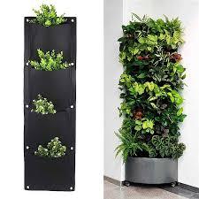 Greenhouse <b>Felt</b> Vertical <b>Planter</b> Garden Wall Mounted Root ...
