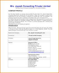 how to write profile ledger paper how to write company profile