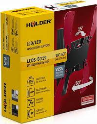 <b>Кронштейн</b> для телевизоров <b>Holder LCDS</b>-<b>5019</b> черный глянец ...