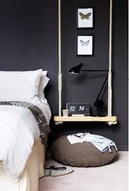 black anglepoise lamp design and quirky hanging small bedside table idea also comfy round awesome small bedside table