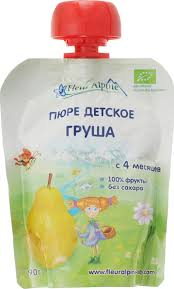 <b>Fleur</b> Alpine Organic <b>пюре</b> груша, с 4 месяцев, 90 г — купить в ...