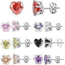 <b>XZP</b> Week Use <b>Women</b>/Girls Jewelry Gift Stainless Steel CZ Stud ...