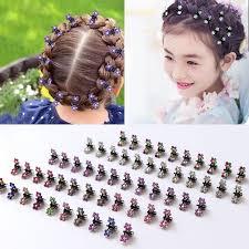 Fashion <b>12PCS</b>/<b>Lot</b> Small <b>Cute</b> Crystal Flowers Metal <b>Hair</b> Claws ...