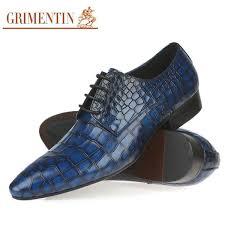 <b>2017</b> Fashion luxury <b>genuine leather mens</b> dress shoes sales blue