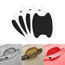 <b>4pcs</b>/<b>Set Universal 3D</b> Carbon Fiber Car Door Handle Sticke ...