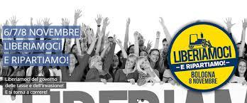 Risultati immagini per bologna 8 novembre manifestazione della lega e del centrodestra