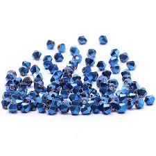 Royal Blue 4mm 100pc Austria Crystal <b>Bicone Beads</b> 5301 Loose ...