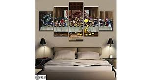 <b>Canvas</b> painting, 5 pieces <b>Home Decor Modular Canvas</b> Picture 5 ...