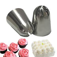 <b>2 PCS Large Cream</b> Nozzle Pastry Stainless Steel Icing Piping Tips ...