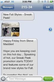 Steve Madden SMS