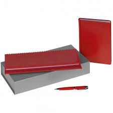 <b>Набор Nebraska Planner</b>, красный купить с нанесением логотипа ...