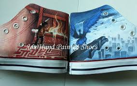 wen hand painted shoes design naruto itachi jiraiya anime