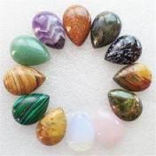 (12 <b>pieces</b>/<b>lot</b>) <b>Wholesale</b> Natural Mixed Stone Teardrop CAB ...