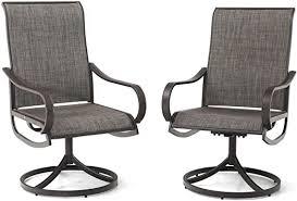 PHI VILLA Patio Swivel Dining Chairs Set of 2 ... - Amazon.com