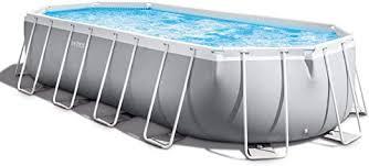 <b>Intex</b> - 20 Foot <b>Prism Frame Oval</b> Pool Set: Amazon.ca: Sports ...