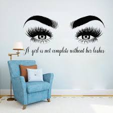 <b>YOYOYU</b> Lashes Eyes <b>Vinyl Wall Sticker</b> Beatuy Salon Quotes ...
