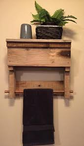 recycled pallet bathroom shelf with towel rack bathroom furniture pallets
