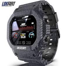 Ready Stock <b>LOKMAT Ocean Smart</b> Watch Touch Screen Heart ...