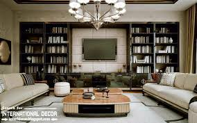 stylish art deco interior design style and furniture with tv wall library art deco furniture information