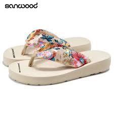 Hot Best <b>Women Summer Fashion</b> Sandals <b>Beach</b> Flip Flops Print ...