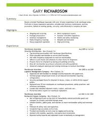 unforgettable warehouse associate resume examples to stand out    warehouse associate resume sample