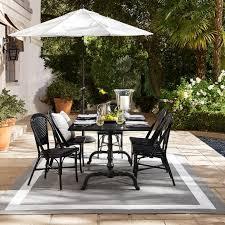 La Coupole Indoor/<b>Outdoor</b> Rectangular <b>Dining Table</b>, <b>Black</b> Granite ...