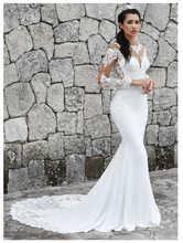 <b>LORIE</b> 2019 <b>Mermaid Wedding Dresses</b> Long Sleeves Appliques ...