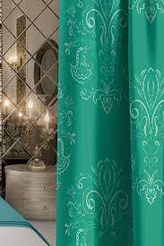 "<b>Штора Волшебная ночь</b> ""Emerald Tale"", на ленте, цвет: зеленый ..."