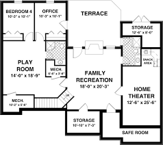 Free House Plans With Basements   Smalltowndjs comExceptional Free House Plans With Basements   Free Basement Floor Plans