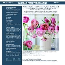s passover magazine magazine passover du  page 6