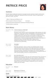 human resource manager resume samples   visualcv resume samples    human resource manager resume samples