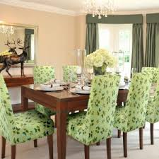 dining table parson chairs interior: unique parson chair cover and dining table with curtain design