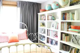 a home library with three target threshold bookcases built home library