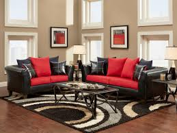 gallerie living home simple living room ideas gray and red