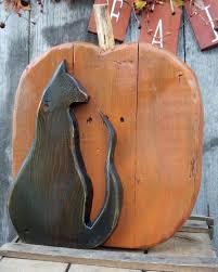 Rustic pallet <b>wood Halloween black</b> cat and <b>pumpkin</b> porch or ...